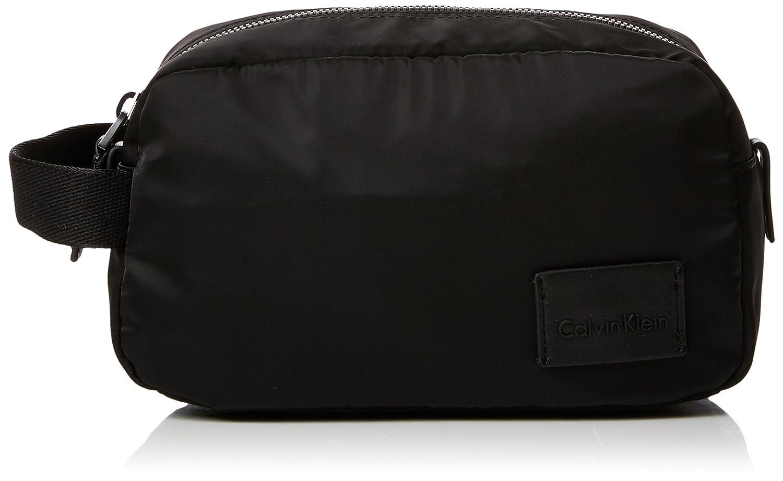 Calvin Klein - Ease Washbag, Organizadores de bolso Hombre, Negro (Black), 12x14x24 cm (B x HT)