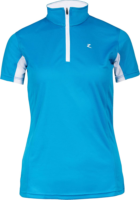 Horze Tristaレディースshort-sleeved Functional Showシャツ Paradise 青/ 白い US 2