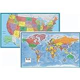 Amazon Com Maps International Giant World Map Mega Map Of The World 46 X 80 Full Lamination Office Products