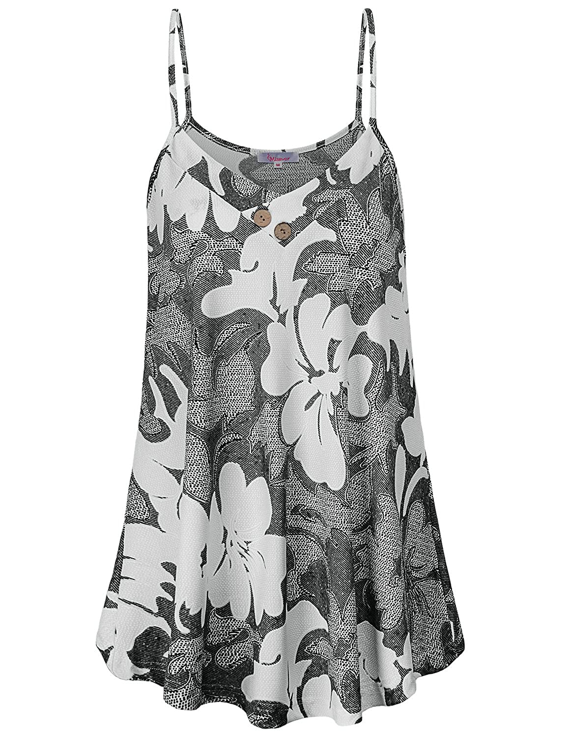 8b6209276c5 Machine washable Hand wash in cold recommended. Design Tank Top Sleveless V  Neck Flowy Style Floral Print Spaghetti Strap Lightweight The Floral print  ...