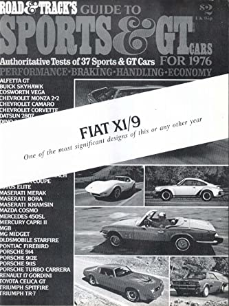 1976 Fiat X1/9 Road Test Sales Reprint