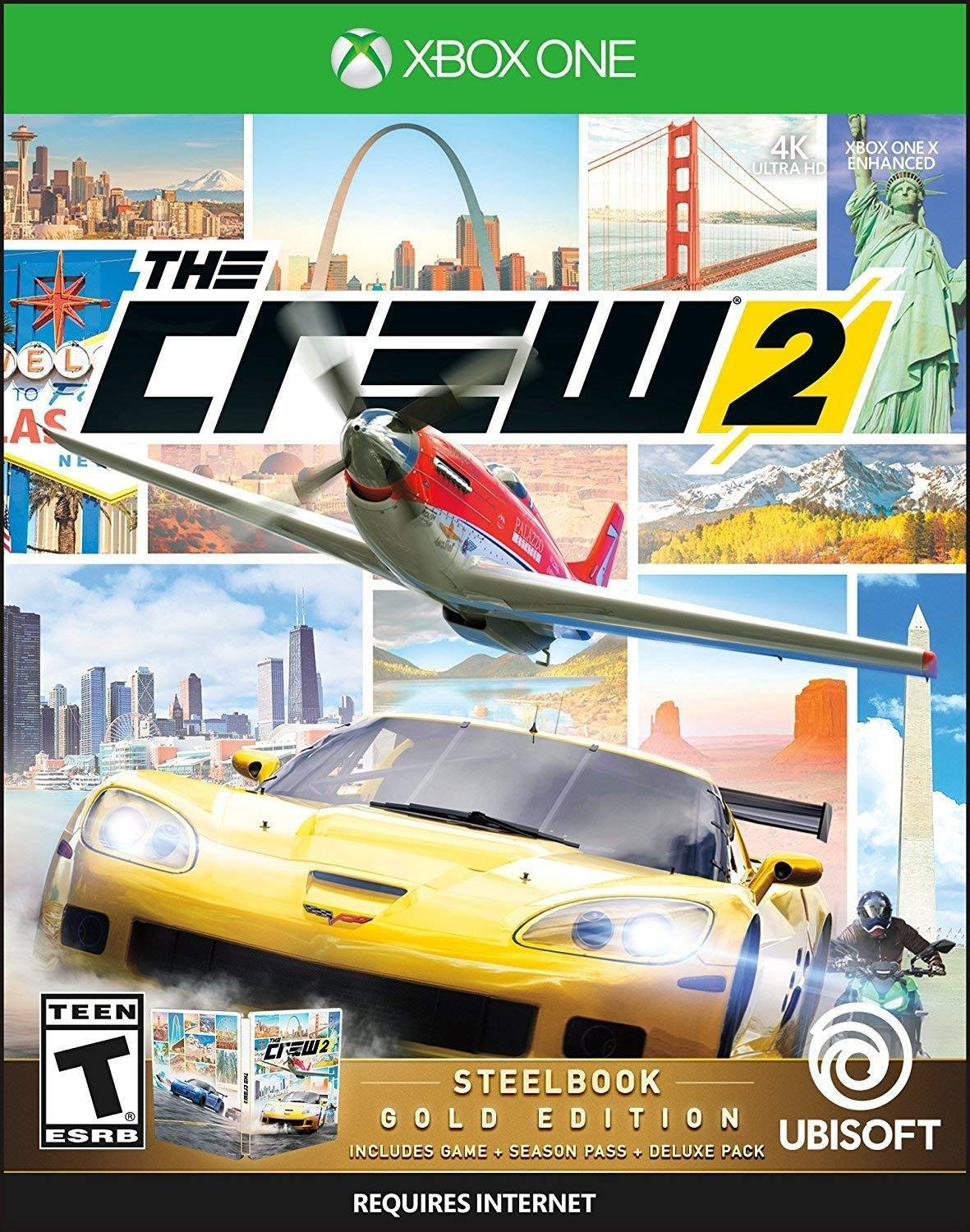 The Crew 2 - Steelbook Gold Edition for Xbox One USA: Amazon.es ...
