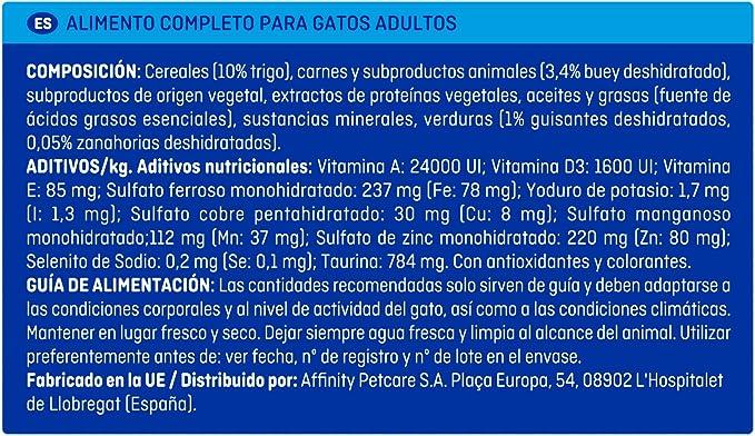 Brekkies Pienso para Gatos con Buey, Verduras y Cereales - Paquete ...