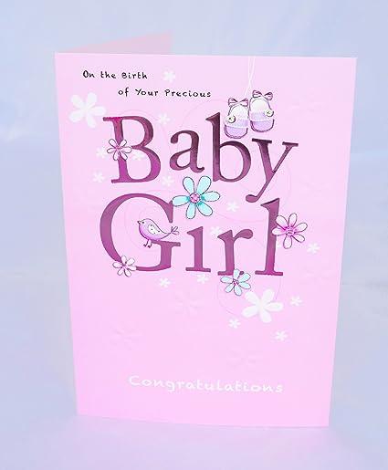 En la tarjeta de nacimiento de su tarjeta de Baby Girl nuevo ...
