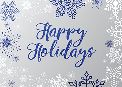 Amazon holiday foil printed greeting cards h1709 greeting holiday foil printed greeting cards h1709 greeting card accented by blue snowflakes and happy m4hsunfo