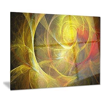 Amazon.com: Bright Yellow Stormy Sky - Abstract Digital Art Metal ...