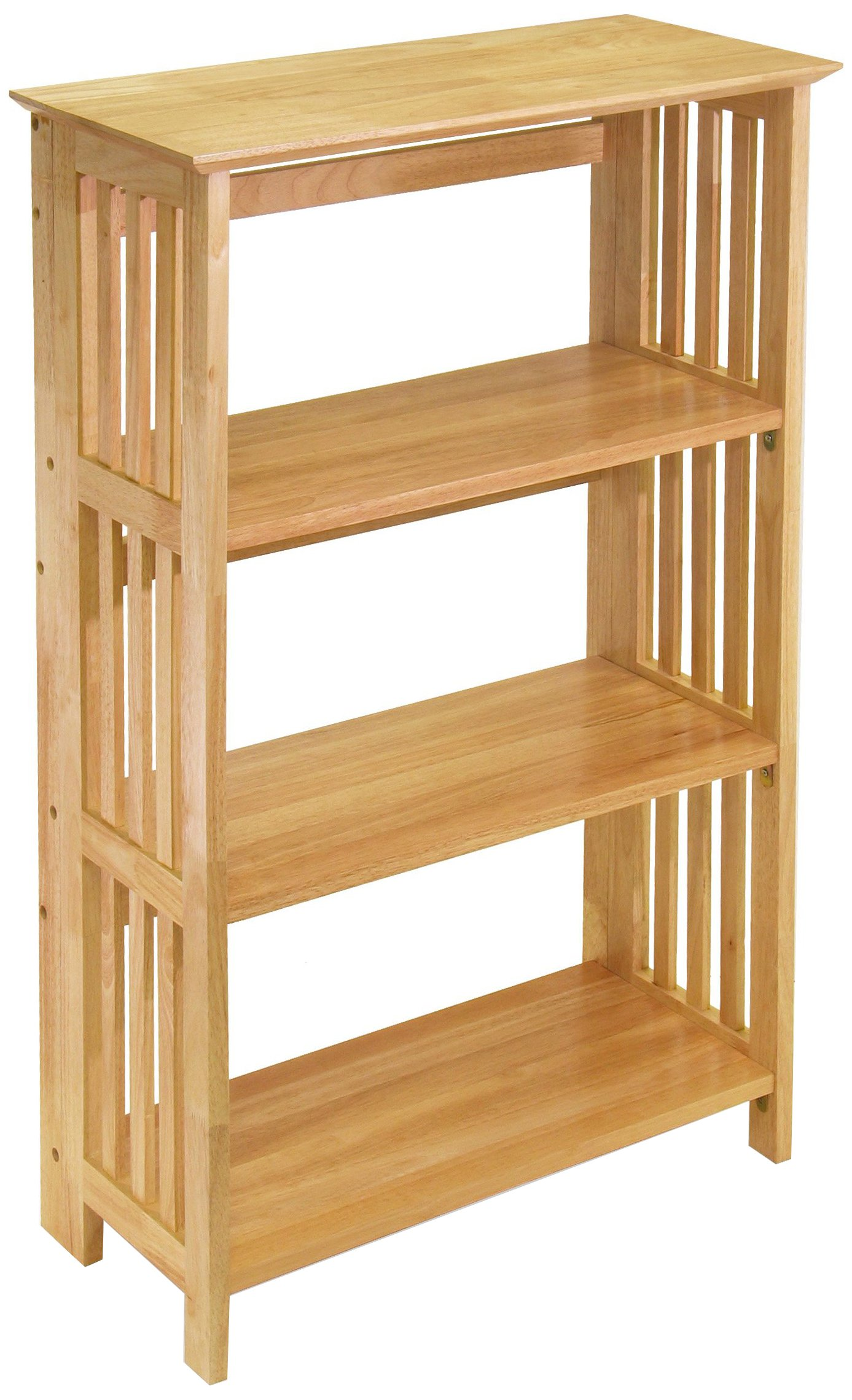 winsome wood foldable 4 tier shelf natural - Deep Bookshelves