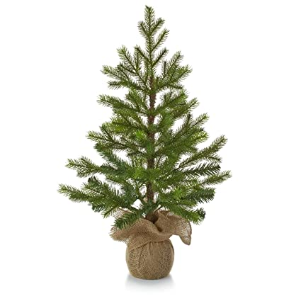 hallmark christmas lpr2402 tabletop evergreen tree - Hallmark Christmas Home Decor