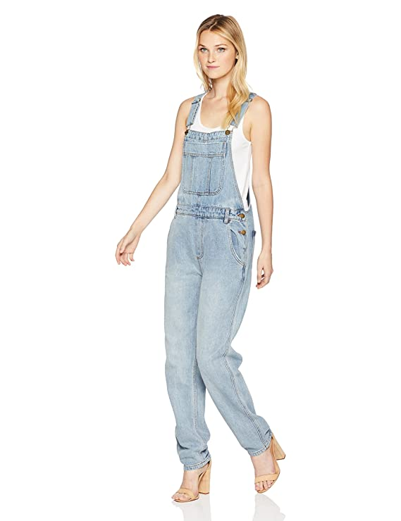 Billabong Women's All Over Denim Pant, Blue Moon, 27 best juniors' overalls