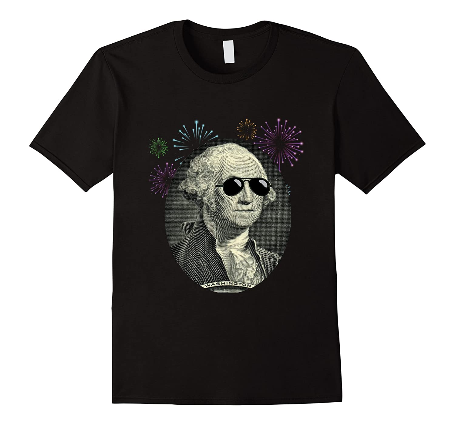 Cool George Washington with Sunglasses T Shirt 4th July