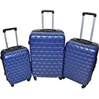 New Travel Hardside spinner luggage Set of 3 pieces with 3 digit number Lock Navy Blue