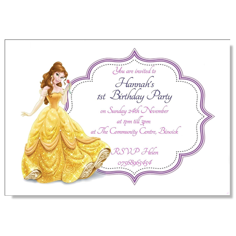 Personalised Disney Princess Birthday Party Invitations Elsa ...