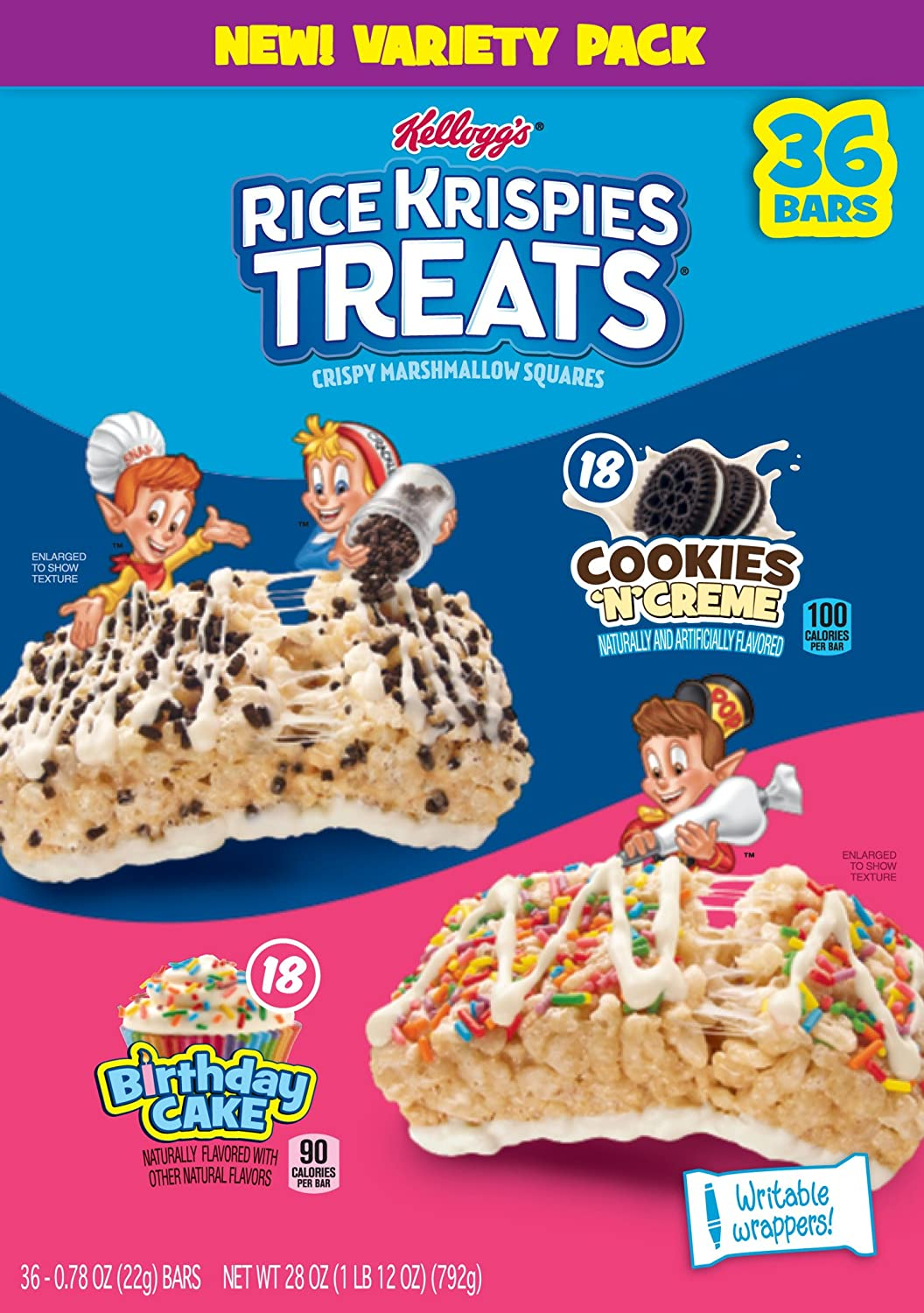 Fine Amazon Com Rice Krispies Treats 36Ct Variety Pack Cookies N Funny Birthday Cards Online Sheoxdamsfinfo