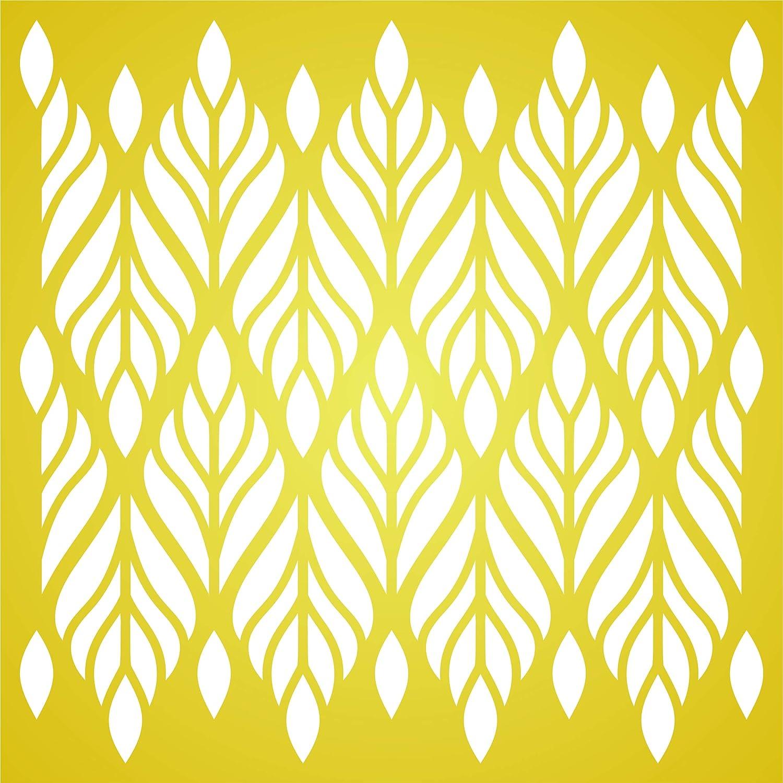 wiederverwendbare Allover-Tapete Tribal Ethnic Wand Schablone Schablone Vorlage 25,5 x 25,5 cm M Blatt-Schablone