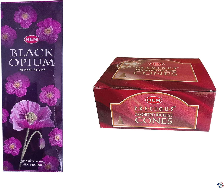 WLM Incienso Hem Black Opium e Incienso Hem Precious en Cono, 6 fragancias: Amazon.es: Hogar