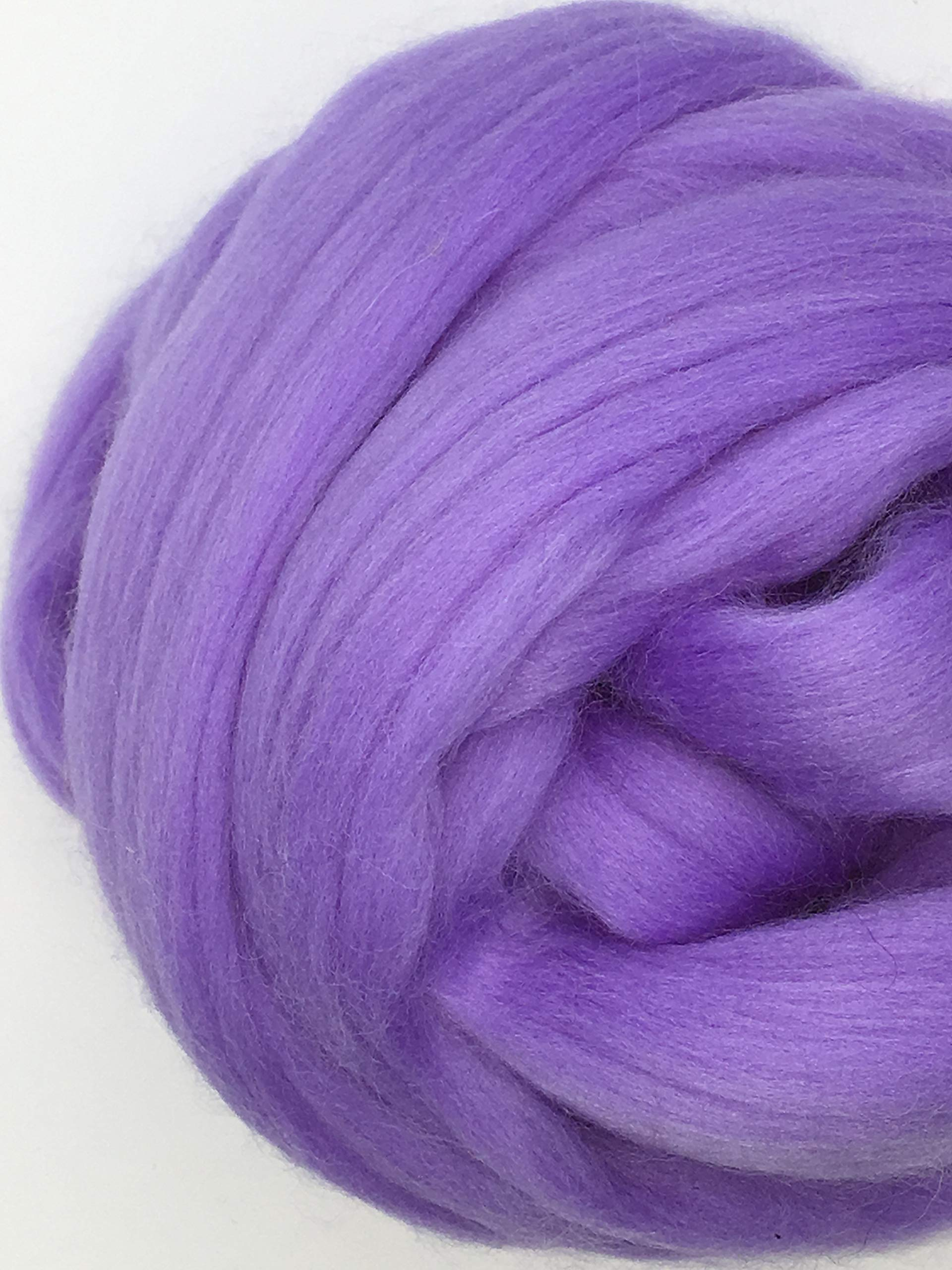 Periwinkle Merino Wool Top Roving Fiber Spinning, Felting Crafts USA (4 pounds)