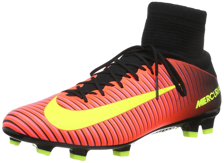 Orange - Orange (Total Crimson   Vlt-blk-pnk Blst) Nike Mercurial Veloce III DF FG, Chaussures de Foot Homme 41 EU