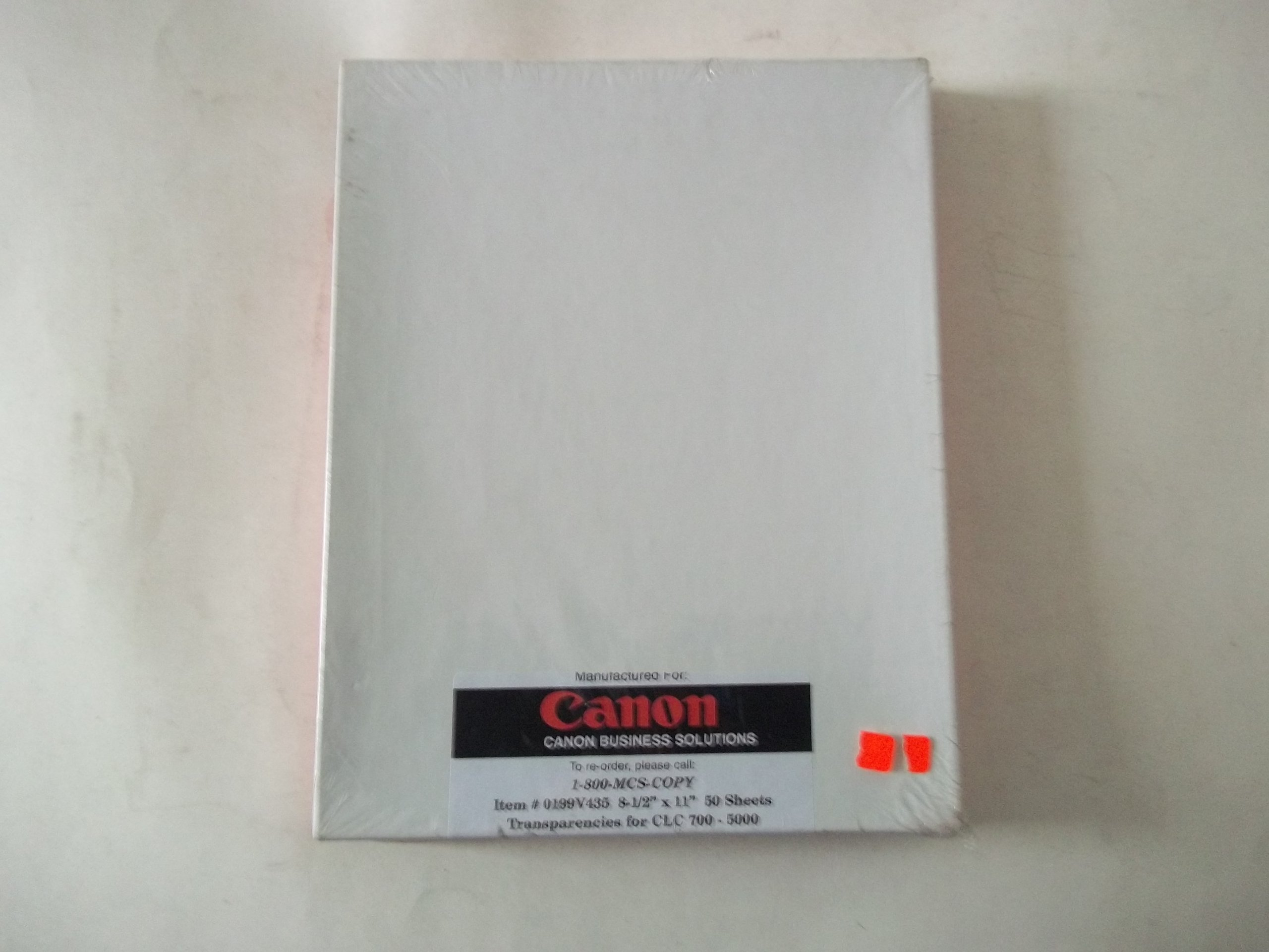 Canon 0199V435 8 1/2'' x 11'' 50 Sheets Transparencies for CLC 700 - 5000