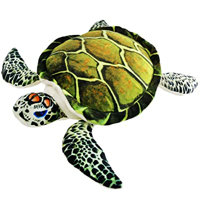 Athoinsu Realistic Stuffed Sea Turtle Soft Plush Toy Ocean Life Tortoise Throw Pillow Birthday for Toddler Kids, 18\'\': Home & Kitchen [5Bkhe1401228]
