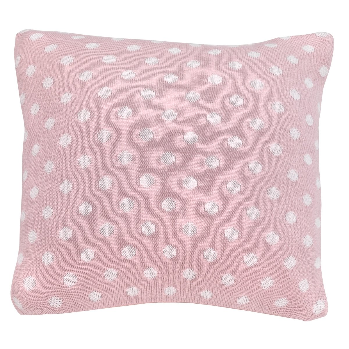 Cambrass Square Pillow Polka Dot Home Decor Pillows Size 30x30 CM Cushions (Pink)