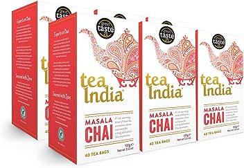 Tea India Masala Chai Tea Bags, 40 count (Pack of 6)