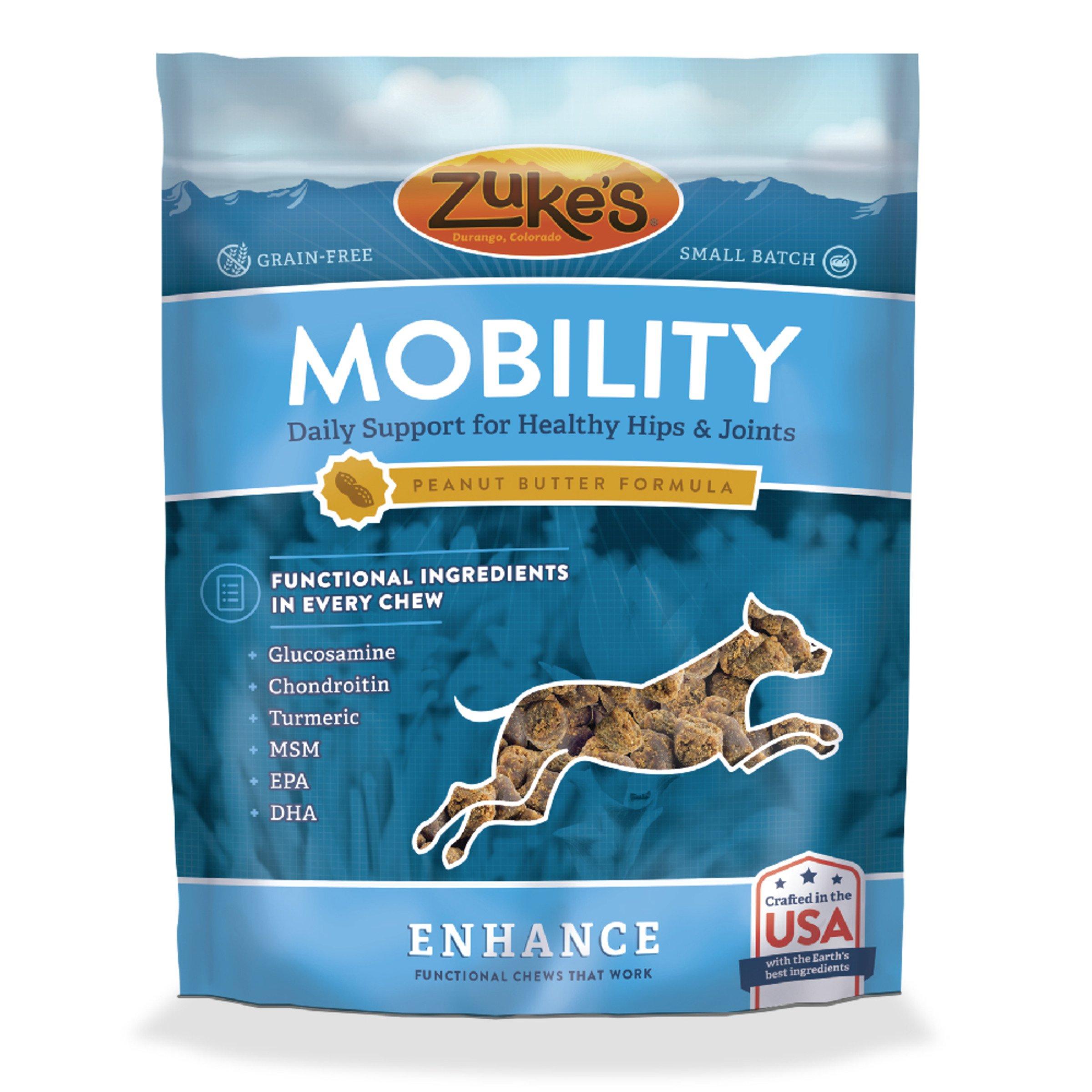 Zuke's Enhance Mobility Peanut Butter Formula Functional Dog Chews - 5 oz. Pouch