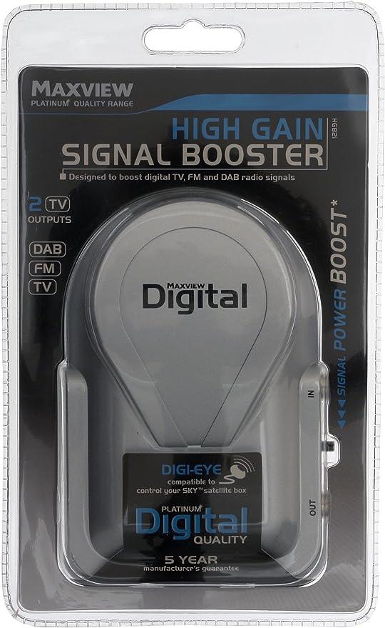 Maxview - Amplificador de señal de Alta Ganancia, Color Blanco