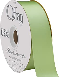 "product image for Offray Berwick 1.5"" Wide Double Face Satin Ribbon, Lime Juice Green, 50 Yds"