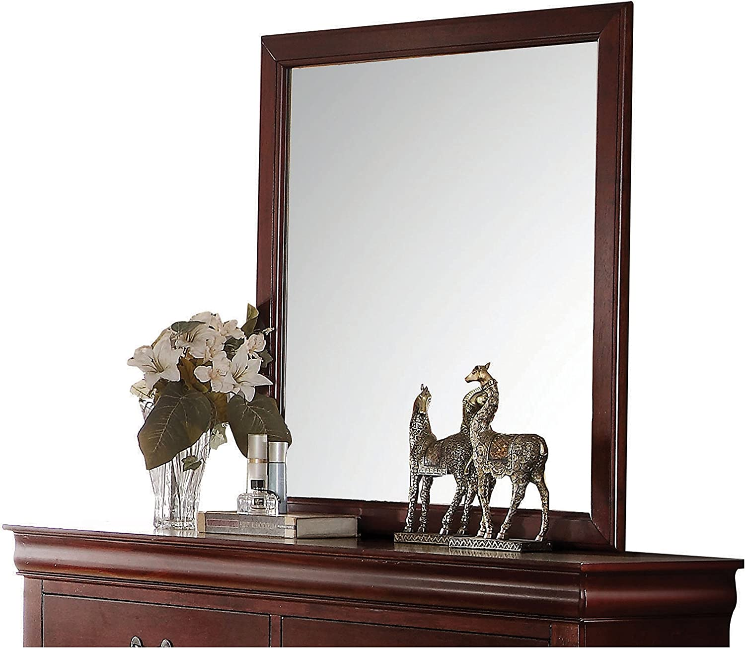 ACME Furniture 23754 Louis Philippe Mirror, Cherry