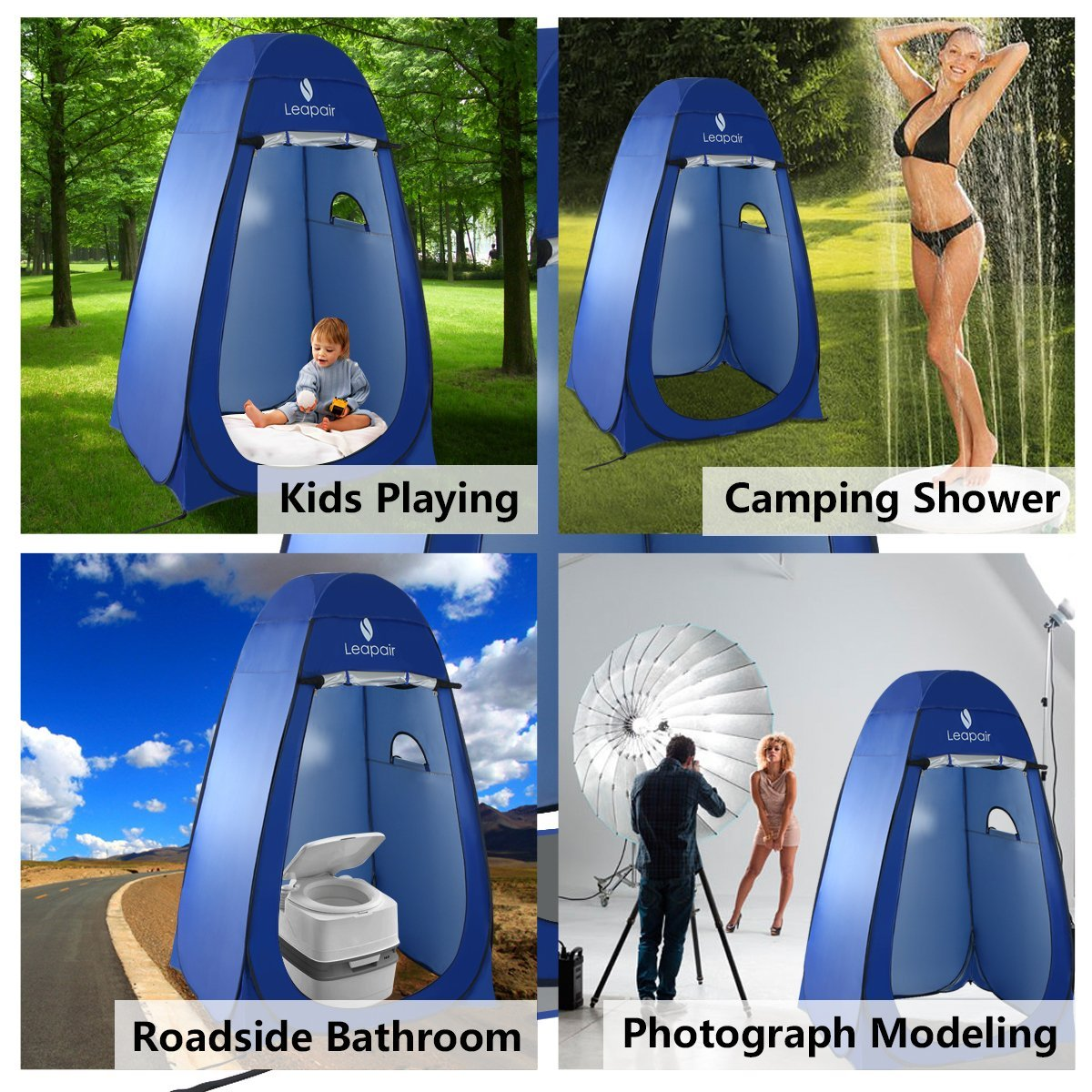 Outdoor Bathroom Tent Amazoncom Leapair Dressing Tent Shower Privacy Portable Camping