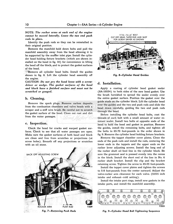Amazon.com: bishko automotive literature 1952 1953 1954 Ford Fairlane T-Bird  Shop Service Repair Manual Book Engine: Automotive