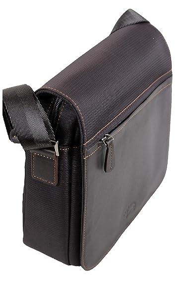 f69e81ab1 Francinel Grand sac besace en nylon garni cuir réf 653109 + CADEAU ...
