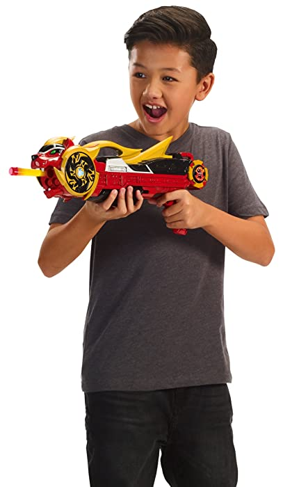 Power Rangers Super Ninja Steel Blaster with 6 Foam Darts and 1 Ninja Star, 1 Pack