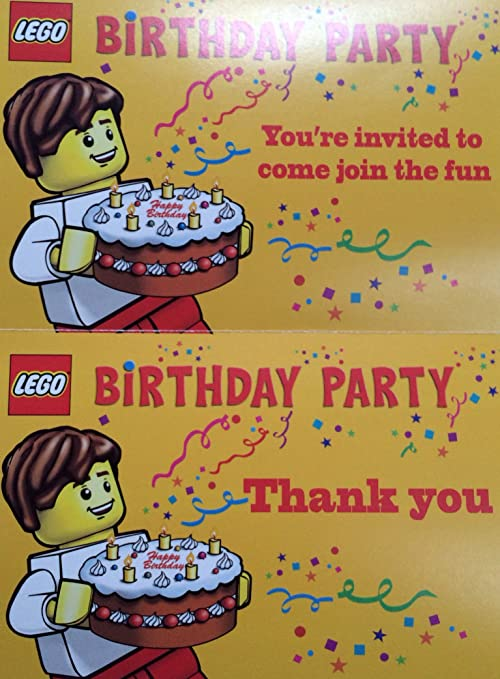 amazon com lego birthday party invitations pack of 10 invitations
