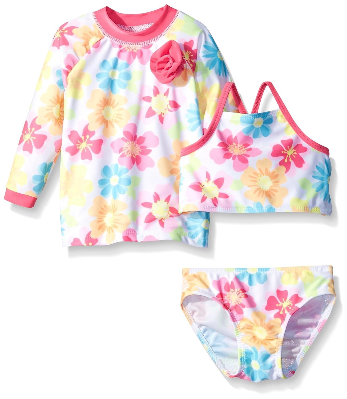 Sol Swim Baby Girls' Summer Sweety 3 Piece Rashguard Set Solo International Inc Baby 278