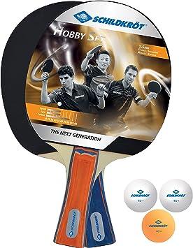 Donic-Schildkröt Set de Tenis de Mesa Hobby para 2 Jugadores-2 Raquetas, 3 Pelotas, en Bolsa de Tranporte, 788602: Amazon.es: Deportes y aire libre