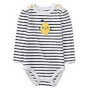 Gymboree Baby Girl Long Sleeve Bodysuit, Nautical Lemon, 3-6 mo