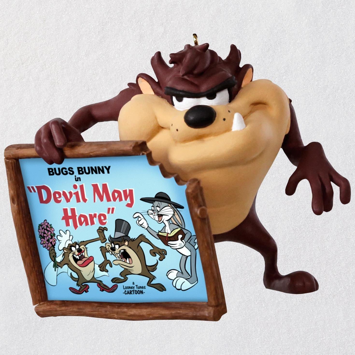 Looney Tunes Taz''Devil May Hare'' Ornament keepsake-ornaments Movies & TV