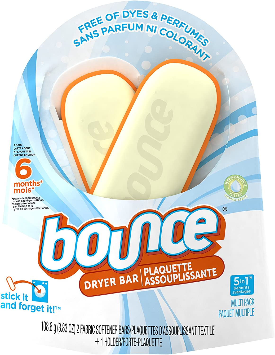 Bounce Free 6 Month Dryer Bar, 3.83-Ounce