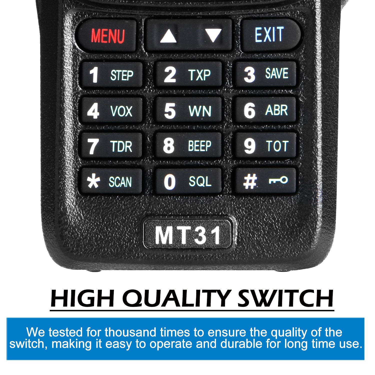 Wireless Radio Transceiver, IP66 Waterproof & Dustproof Two Way Radio Walkie Talkie with Headset/LED Flashlight/Battery/Charger for Indoor & Outdoor Activities by Waltalkie (Image #8)