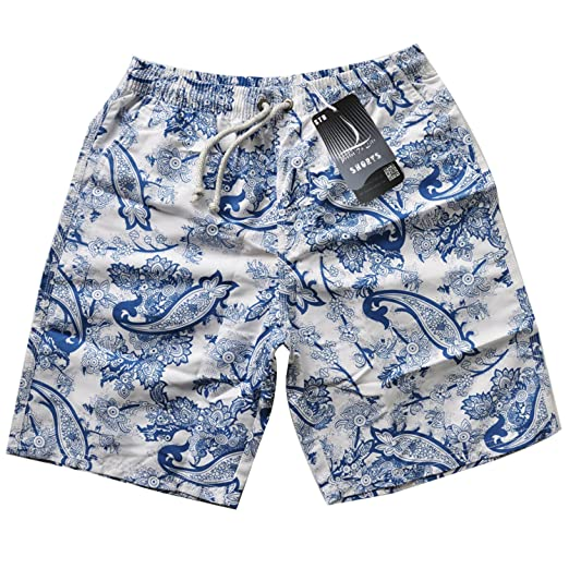 bb37c254b5eb5 Prefer To Life Teen's Fashion Board Shorts for Swimming Trunks,Water Park  Wear Elastic Closure