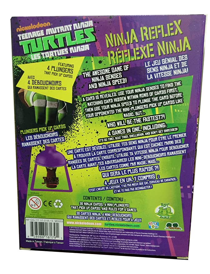 Teenage Mutant Ninja Turtle Reflex Card Game Plunger Pick Up ...