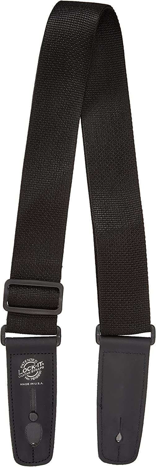 Black Lock It LIS012P3BLK Professional 3 Polypro Strap with Locking Ends