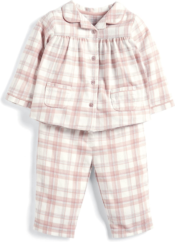 Mamas /& Papas Baby Girls Pink Check Pyjamas Sets