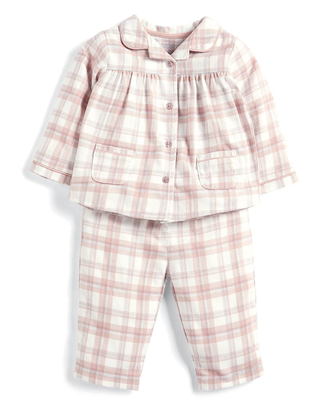 Mamas and Papas Pink Check Pyjamas, Pigiama Bimba