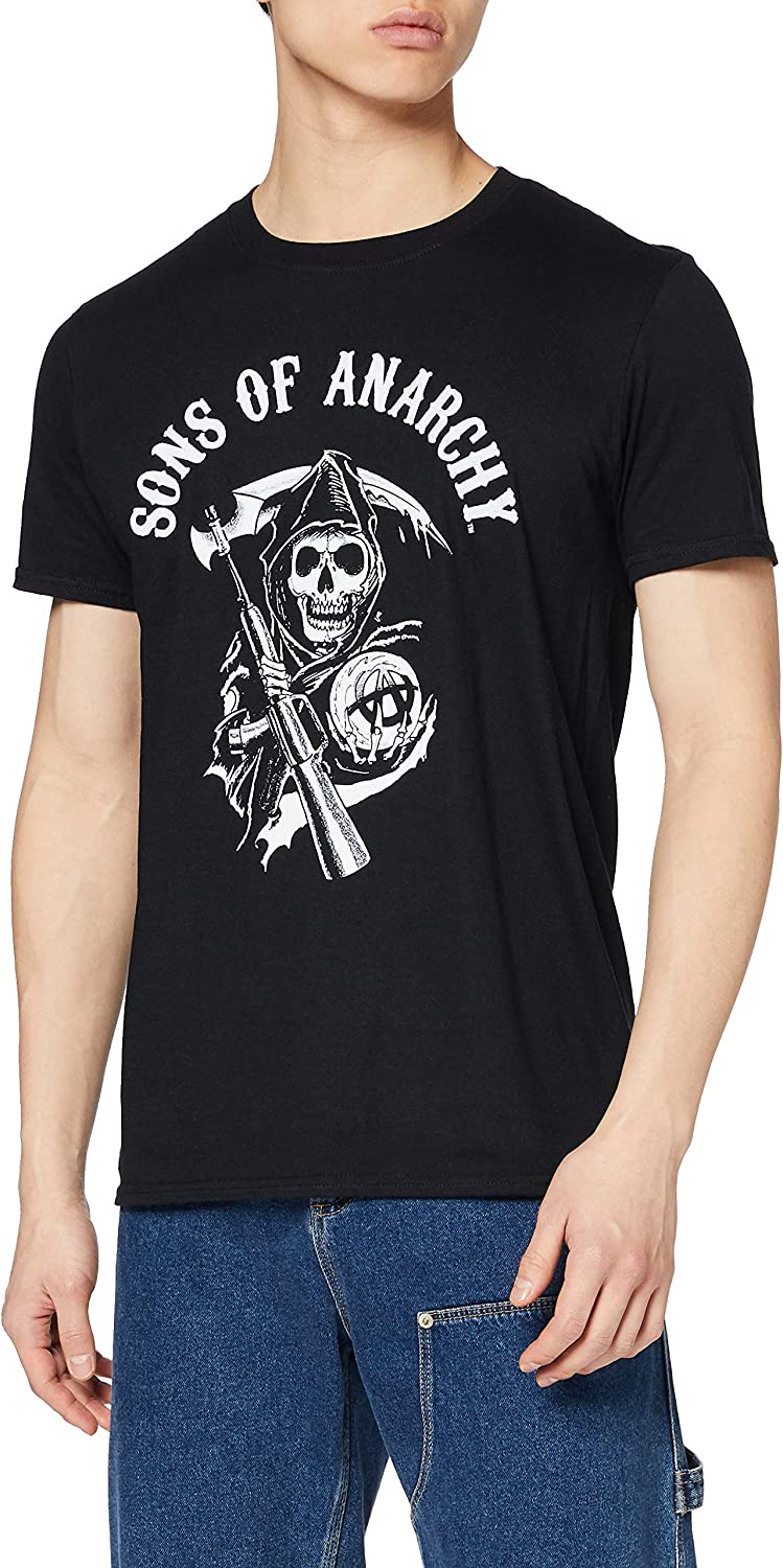 ICONIC COLLECTION - SONS OF ANARCHY T-shirt Reaper zwart