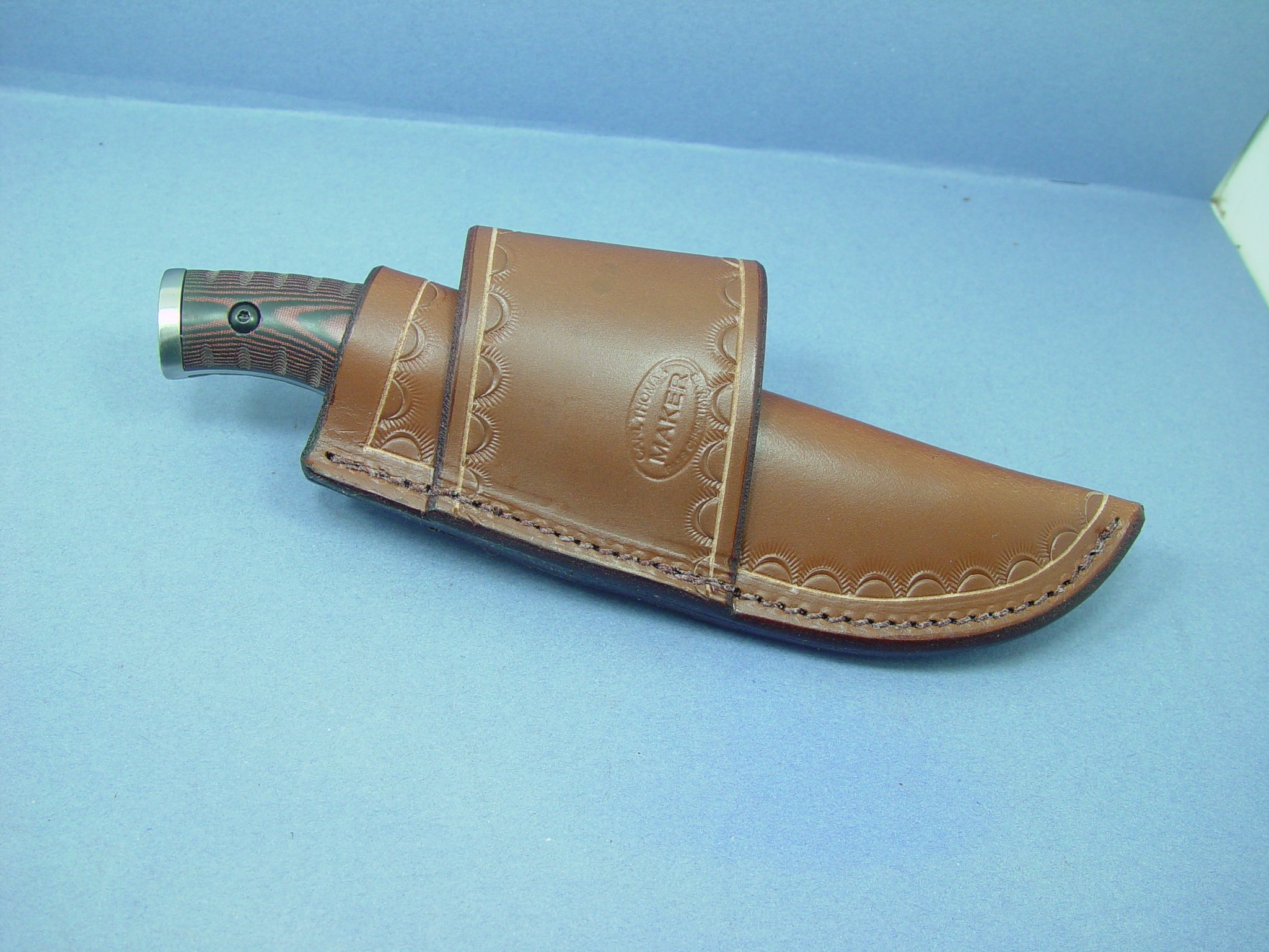 Buck Selkirk knife sheath For the small knife. by Buck Selkirk knife sheath