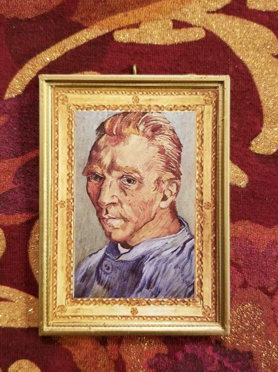 Without a Bail. Dollhouse Miniature Van Gogh Self-Portrait Miniature Vincent Van Gogh