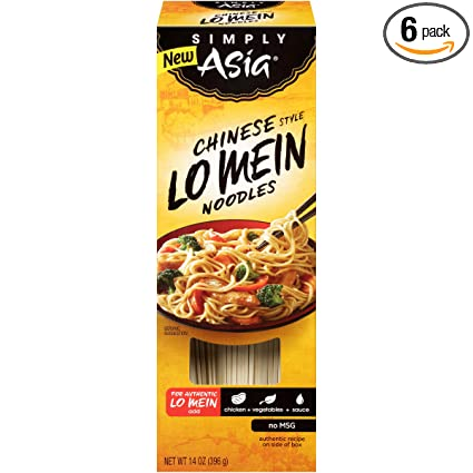 Amazon Com Simply Asia Chinese Style Lo Mein Noodles 14 Oz Pack Of 6 Grocery Gourmet Food