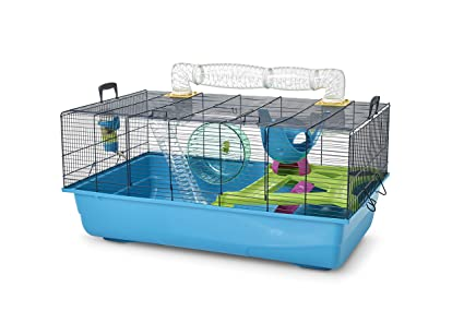 SAVIC Hamster Sky Navy Blue Hamster Cage 80 X 50 X 50 Cm: Amazon ...